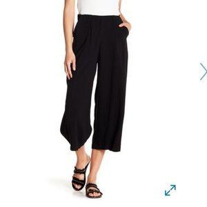High Waist Linen Gaucho Pants